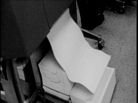 data from nasa shuttle mission prints out usa; 1960's - printout stock videos & royalty-free footage