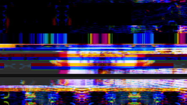 data glitch 027 hd - yellow stock videos & royalty-free footage