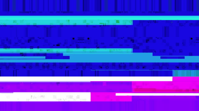 data glitch 029 hd video backgrounds - television static stock videos and b-roll footage