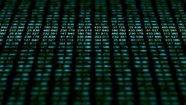 a data grid of streaming numbers (loop). - big data stock videos & royalty-free footage