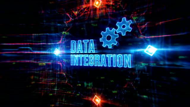 data integration digital bakgrund - rutnät bildbanksvideor och videomaterial från bakom kulisserna