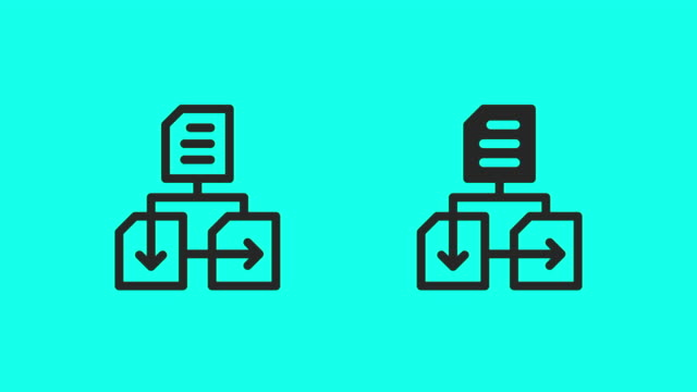 data network icons - vector animate - equipment stock videos & royalty-free footage