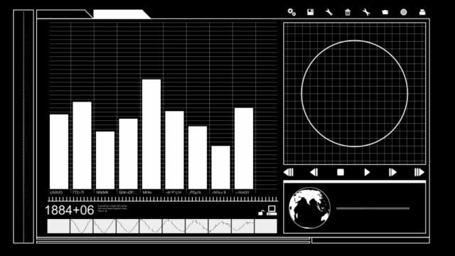 vidéos et rushes de données readout à écran plat - symbole