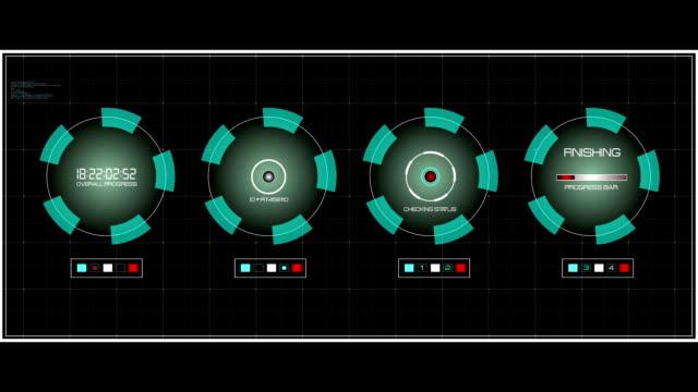 vídeos de stock e filmes b-roll de ecrã data de interface da interface de - vingança