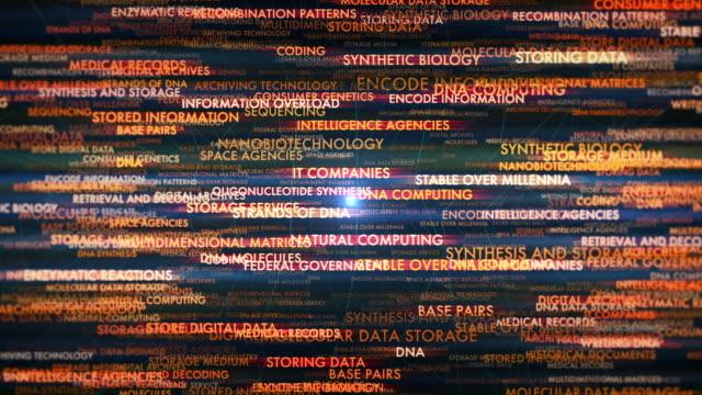 dna villkor för lagring av data - biokemi bildbanksvideor och videomaterial från bakom kulisserna