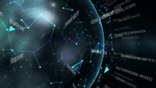dna data storage terms - identity video stock e b–roll