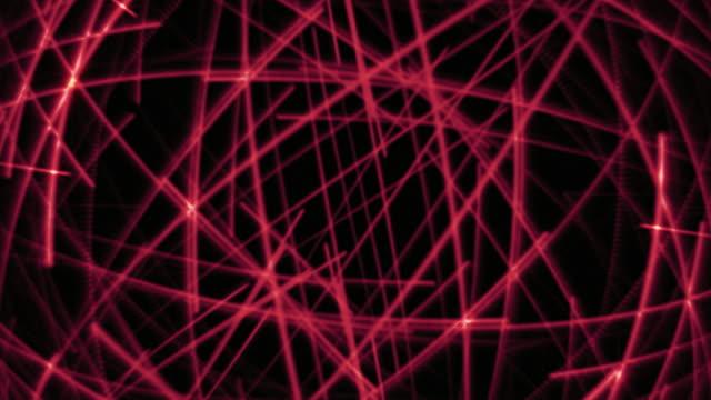 Data Streaks Red Background Loop.