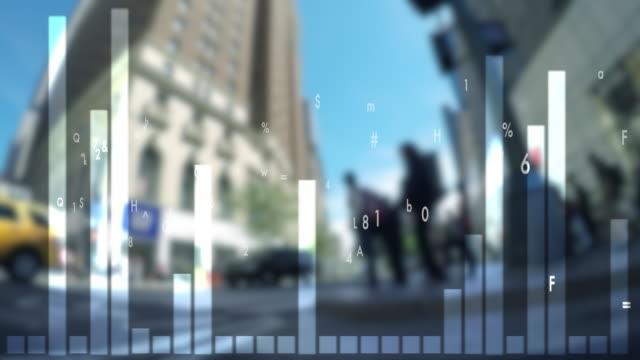 vídeos y material grabado en eventos de stock de data stream numbers background. financial business growth concept. city time lapse scenery - medidor