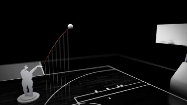 data visualization of a jump shot - jump shot stock videos and b-roll footage