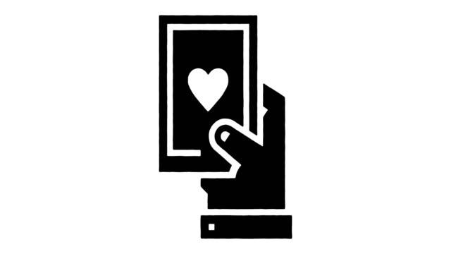 dating app line drawing & ink splatter reveal animation med alpha - profil redigerat segment bildbanksvideor och videomaterial från bakom kulisserna