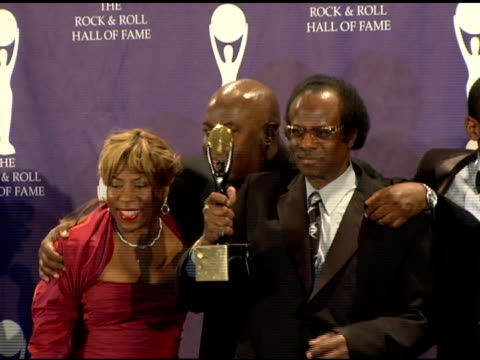 daughter cheryl davis nephew vincent wilburn son gregory davis grandson paul scott and youngest son erin davis who accepted for inductee miles davis... - nephew stock videos and b-roll footage