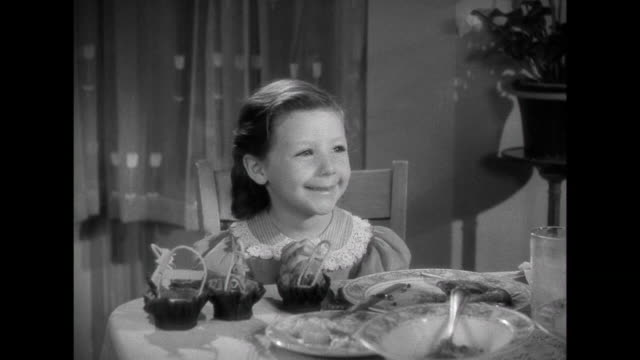 1941 daughter explains her role in her school christmas play to family ( cary grant & irene dunne) - 1941 stock videos & royalty-free footage