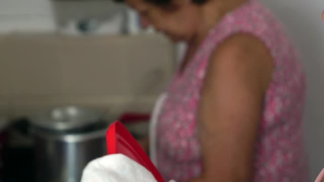 daughter helping her mother washing dish in kitchen - kitchenware department stock videos and b-roll footage