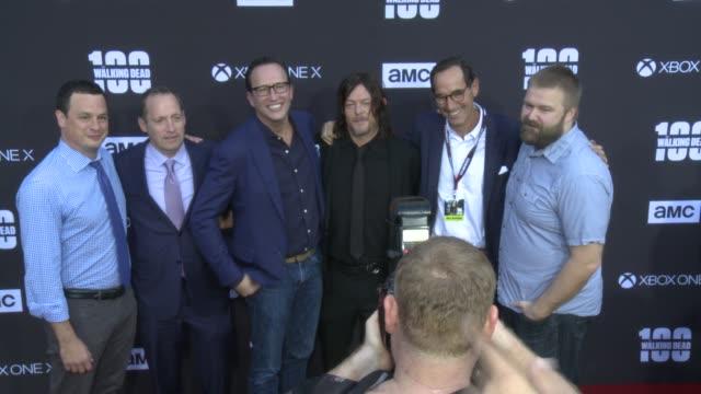 Dave Alpert Ed Carroll Charlie Collier Norman Reedus Josh Sapan Robert Kirkman at the AMC's The Walking Dead 100th Episode Season 8 Special Premiere...