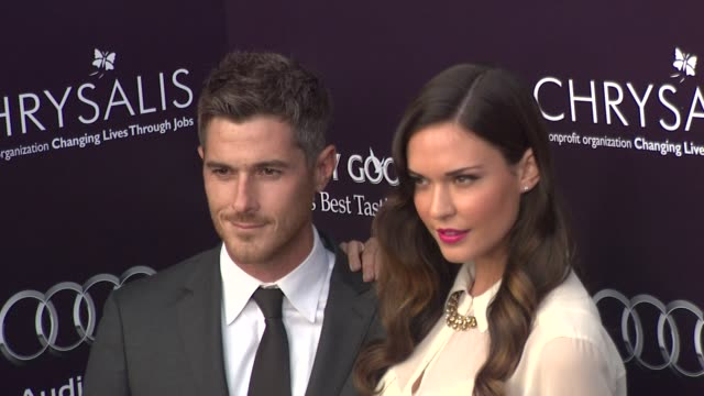 Dave Annable and Odette Yustman at the 10th Annual Chrysalis Butterfly Ball at Los Angeles CA