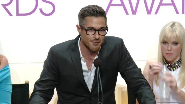SPEECH Dave Annable at 2015 People's Choice Awards Nominations Announcement at The Paley Center for Media on November 04 2014 in Beverly Hills...