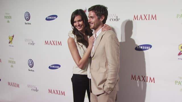 Dave Annable Odette Yustman at the The Maxim Party at Miami Beach FL