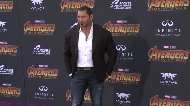 Dave Bautista at the Avengers Infinity War World Premiere on April 23 2018 in Hollywood California