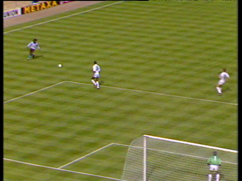 Dave Bennett cross finds Keith Houchen running into box who scores diving header to equalise Coventry City vs Tottenham Hotspur 1987 FA Cup Final...