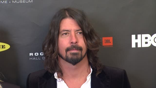 dave grohl at 28th annual rock and roll hall of fame induction ceremony arrivals 4/18/2013 in los angeles ca - hall of fame stock videos and b-roll footage