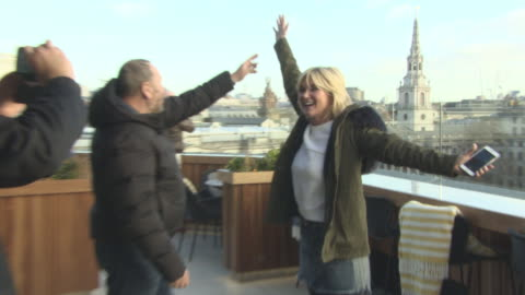 dave hogan, anthea turner at hogie's heroes exhibition launch at the trafalgar hotel on february 1, 2018 in london, england. - anthea turner stock videos & royalty-free footage
