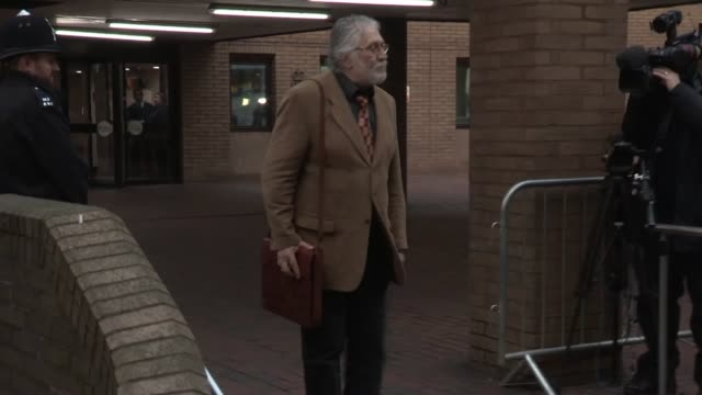dave lee travis at dave lee travis charged in operation yewtree investigation trial begins at southwark crown court on january 14 2014 in london... - サウスワーク刑事法院点の映像素材/bロール