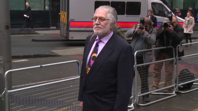 dave lee travis at dave lee travis charged in operation yewtree investigation trial continues at southwark crown court onjanuary 17 2014 in london... - dj stock videos & royalty-free footage