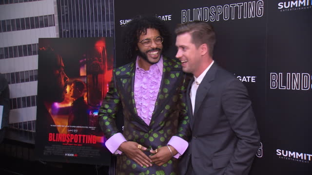Daveed Diggs and Rafael Casal at the Blindspotting New York Premiere at Angelika Film Center on July 16 2018 in New York City