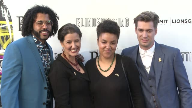 Daveed Diggs Libby Schaaf and Rafael Casal at the Blindspotting Oakland Premiere at The Grand Lake Theater on July 11 2018 in Oakland California