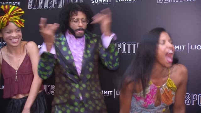 Daveed Diggs Renee Elise Goldsberry and Jasmine Cephas Jones at the 'Blindspotting' New York Premiere
