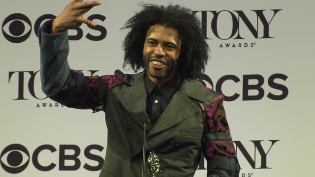 interview daveed diggs talks about being proud to be part of such a diverse broadway season at 2016 tony awards press room at the beacon theatre on... - 70th annual tony awards stock videos and b-roll footage