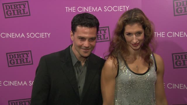 David Alan Basche and Alysia Reiner at the The Cinema Society The Weinstein Company Host A Screening Of 'Dirty Girl' Arrivals at New York NY