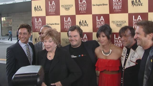 david ansen, shirley maclaine, jack black, rebecca yeldham, richard linklater, and peter guber at the the 2011 los angeles film festival presents the... - peter guber stock videos & royalty-free footage