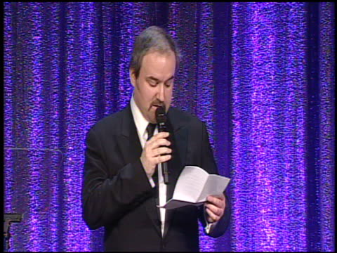 david arnold on the award at the composer david arnold to receive bmi's richard kirk award at the bmi film/tv awards at beverly hills ca. - entertainment occupation stock videos & royalty-free footage