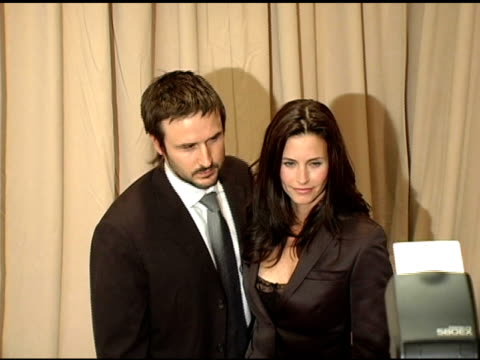 David Arquette and Courteney Cox at the 2005 Courage Award Given To Lance Armstrong At Saks Fifth Avenue's Unforgettable Evening at the Regent...