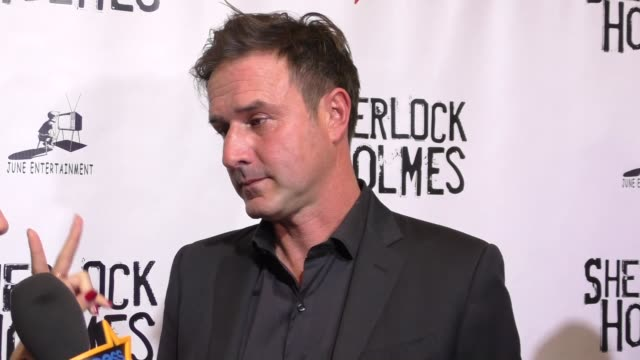 david arquette at the opening night of sir arthur conan doyle's sherlock holmes at the montalban theatre in hollywood - celebrity sightings on... - arthur conan doyle stock videos & royalty-free footage