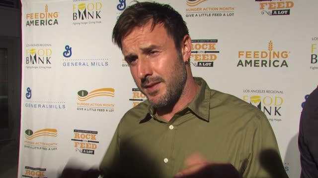 David Arquette on being a part of the night what performance he's most looking forward to at the 'Rock A Little Feed A Lot' Benefit Concert at Los...