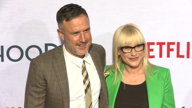 david arquette, patricia arquette at the netflix special screening of otherhood in los angeles, ca 7/31/19 - patricia arquette stock videos & royalty-free footage