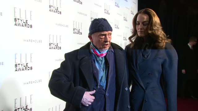 david bailey at elle style awards arrivals at one embankment on february 18 2014 in london england - embankment stock videos and b-roll footage
