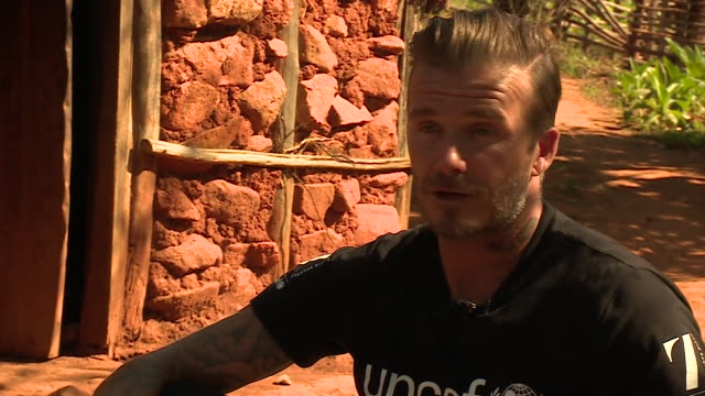 David Beckham a Goodwill Ambassador for UNICEF speaks about the need for contraception in the fight against Aids in Swaziland NNBU319F
