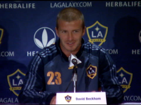David Beckham and Frank Yallop of The Los Angeles Galaxy Press Conference New York CA 8/18/07 in Hollywood California on August 20 2007