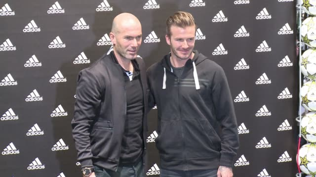 David Beckham and Zinedine Zidane have been meeting fans on the Champs Elysees after the English players impressive full debut for Paris Saint...