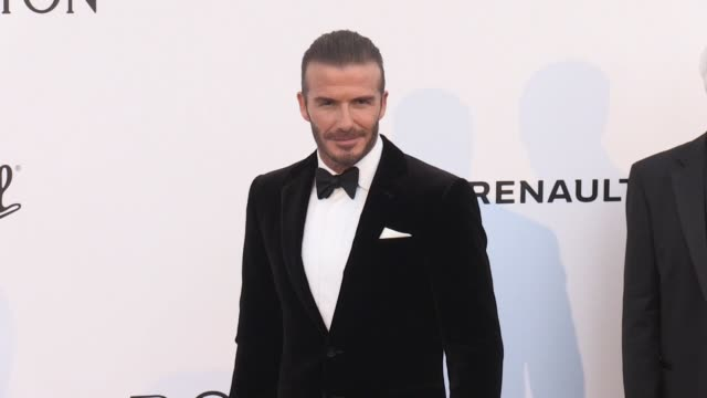 David Beckham at on the red carpet at the amfAR Gala during the Cannes Film Festival 2017 Thursday 25 May 2017 Cannes France
