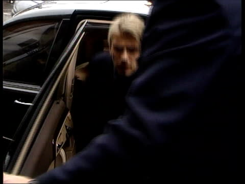 david beckham driving ban appeal; england: manchester: ext manchester united footballer david beckham from car and into court - forbidden stock videos & royalty-free footage