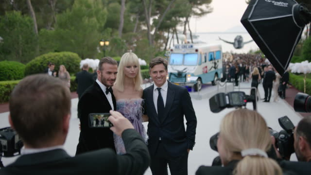 david beckham karolina kurkova archie drury at amfar gala cannes 2017 at hotel du capedenroc on may 25 2017 in cap d'antibes france - karolina kurkova stock videos and b-roll footage