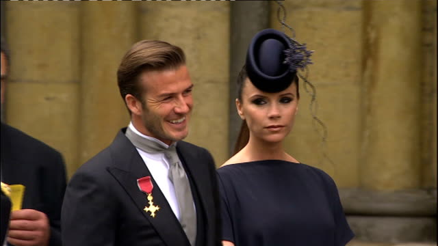 david beckham leads la galaxy to 2011 mls championship lib london buckingham palace ext david and victoria beckham at buckingham palace after beckham... - order of the british empire stock videos and b-roll footage