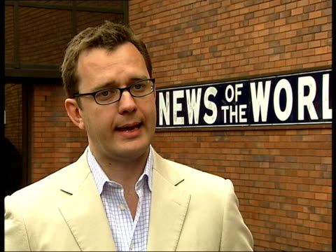 more sex allegations; itn england: london: news of the world: ext andy coulson interview sot - we have more revelations...will see how beckhams' react - news of the world stock videos & royalty-free footage