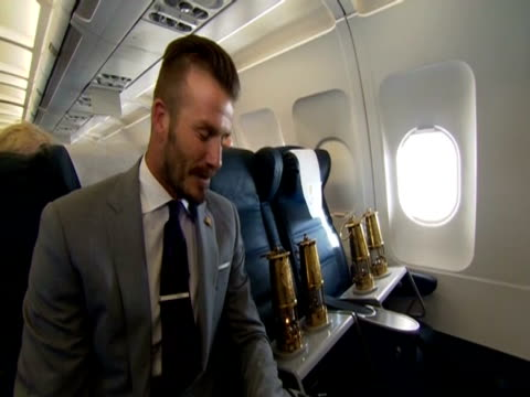 david beckham on being in the plane with the olympic flames - flaming torch stock videos & royalty-free footage