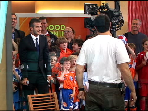 David Beckham on Good Morning America at the Celebrity Sightings in New York at New York NY