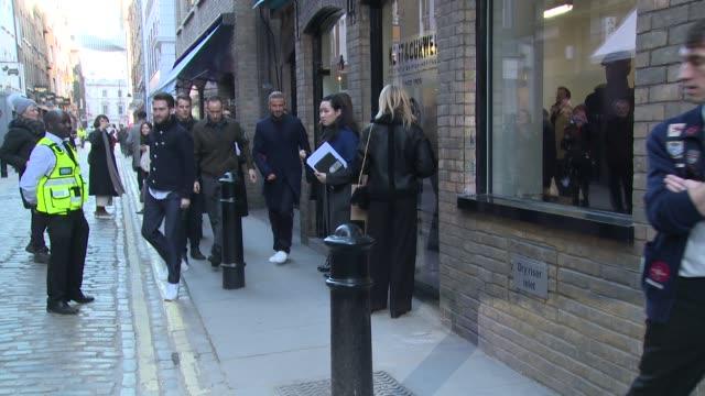 David Beckham Romeo Beckham at London Fashion Week Menswear SS18 Kent Curwen Celebrity Sightings at 17 Floral Street on January 07 2018 in London...
